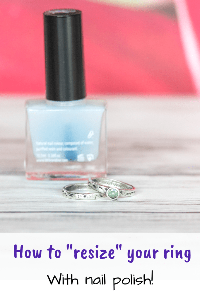 How to resize your ring with nail polish!