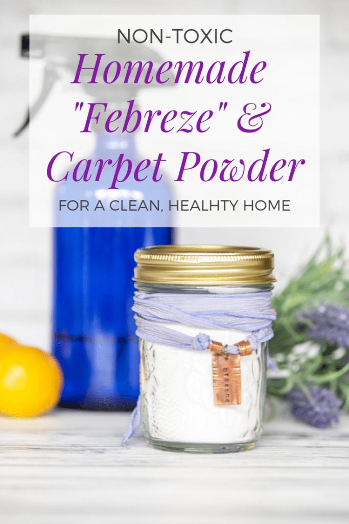 non-toxic homemade Febreze and carpet powder