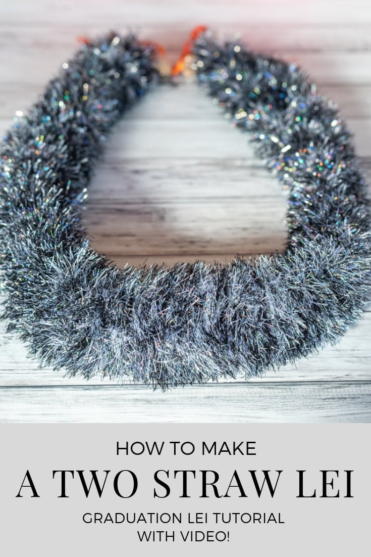 How to make a two straw lei - graduation lei tutorial with video