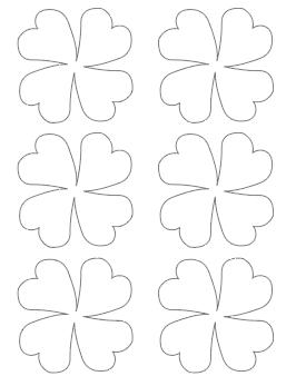 stylized four leaf clover template medium
