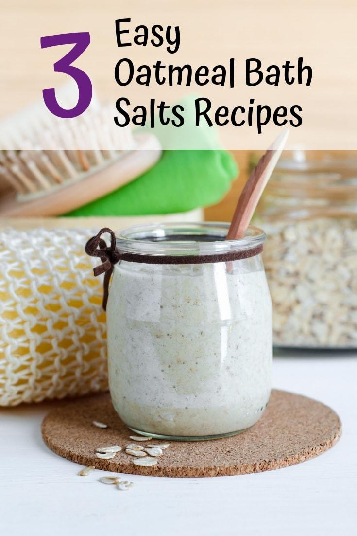 3 easy oatmeal bath salts recipes