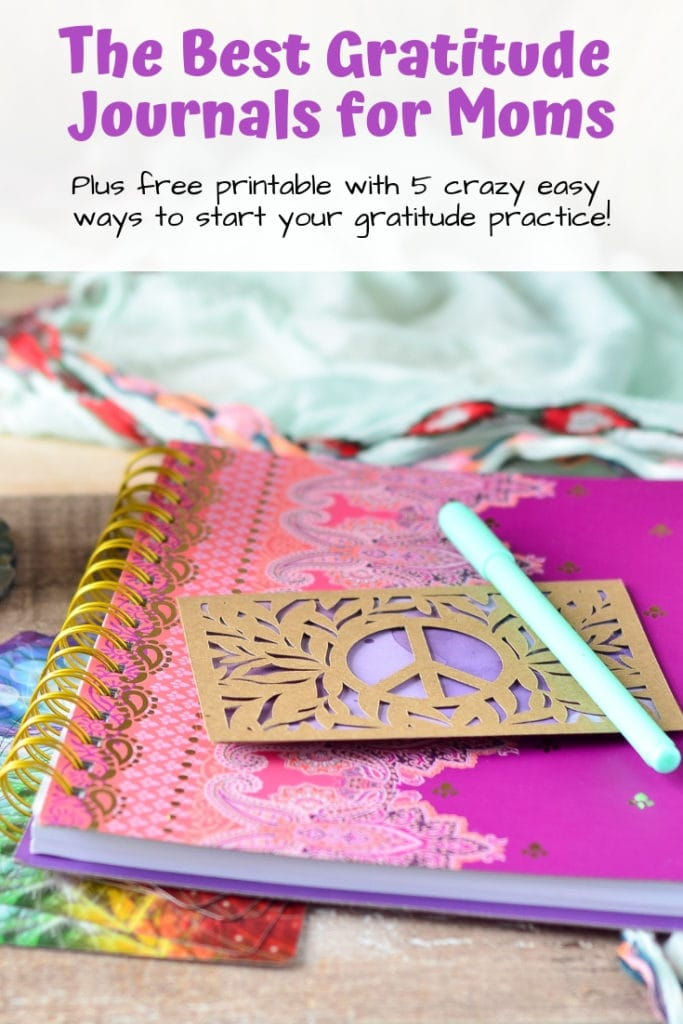 Discover the best gratitude journals for moms - all under $20! Plus snag a free printable with 5 crazy easy ways to start your gratitude practice