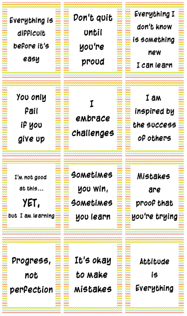 growth mindset poster free printables with rainbow background