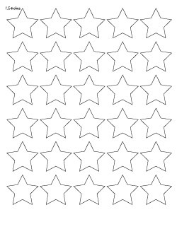 "1.5"" star template"
