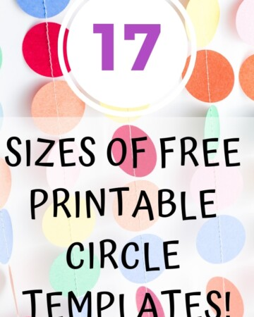 17 sizes of free printable circle templates