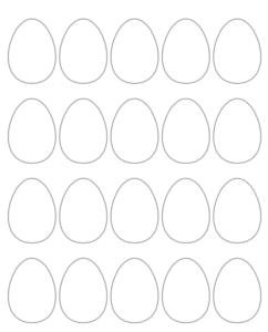 2 blank Easter egg printables