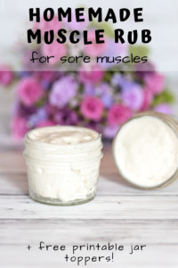 Discover this homemade muscle rub recipe! Homemade muscle rub with essential oils.