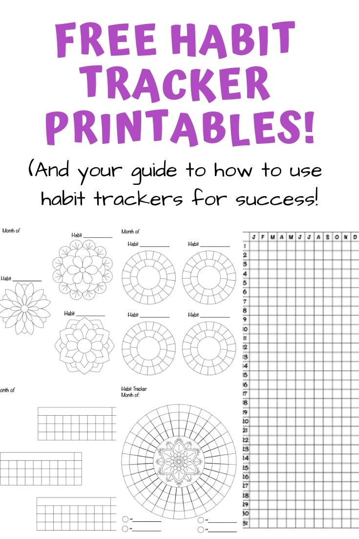 Free printable habit tracker previews