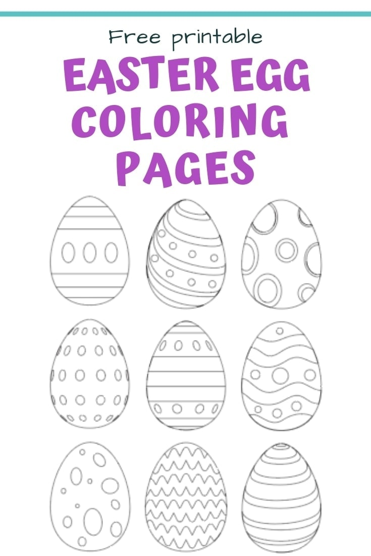 25 Free Printable Easter Egg Templates Easter Egg