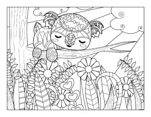spring coloring pages  free printable spring adult