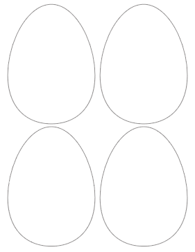 free printable 5 Easter egg templates