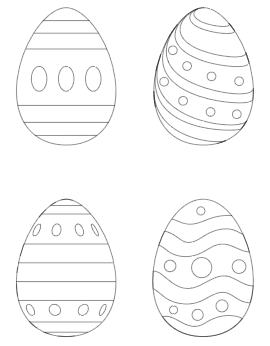 preview of Easter egg free printable coloring pages with lines dots