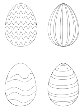 preview of Easter egg free printable coloring pages with lines