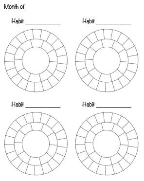 preview of free printable habit tracker printable - round habit trackers. Click through for more free printable habit trackers!