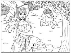 shepherdess-with-lambs