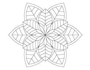 simple floral mandala coloring page