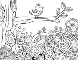 Spring Coloring Pages - Free Printable Spring Adult Coloring Pages ...