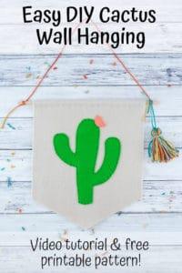 DIY cactus wall hanging