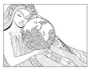 mother nature coloring pages | 20+ Earth Day and Environmental Coloring Pages - The ...