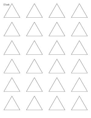 1.5 inch triangle template