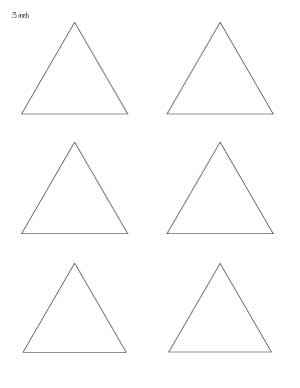 3 inch triangle patterns
