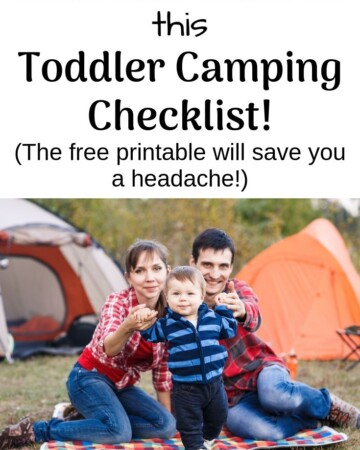 Don't pack without this toddler camping checklist