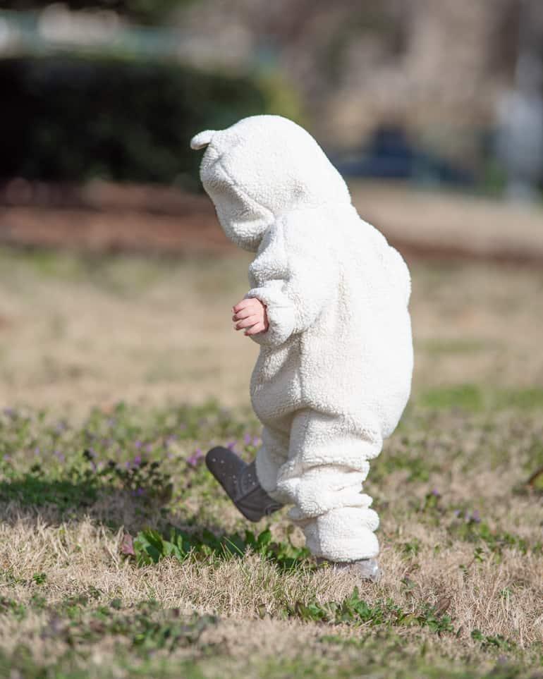 toddler wearing warm clothing