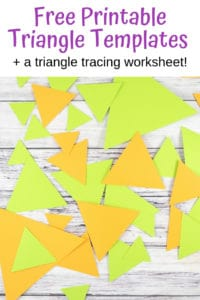 free printable triangle templates
