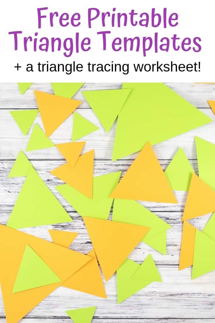 free printable triangle templates