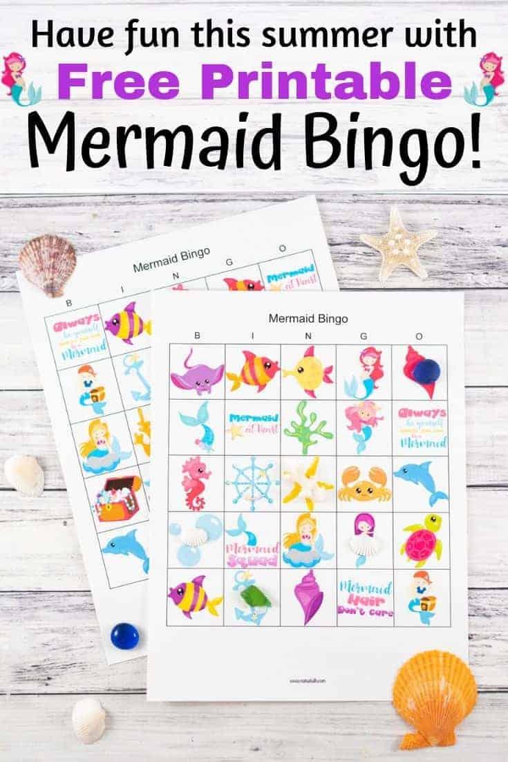 have fun this summer with free printable mermaid bingo!