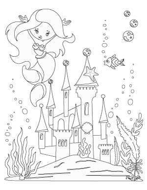 mermaid-with-castle