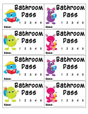 numbered-bathroom-pass-with-monsters-and-space-for-name