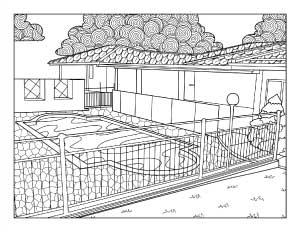 swiming-pool-coloring-page
