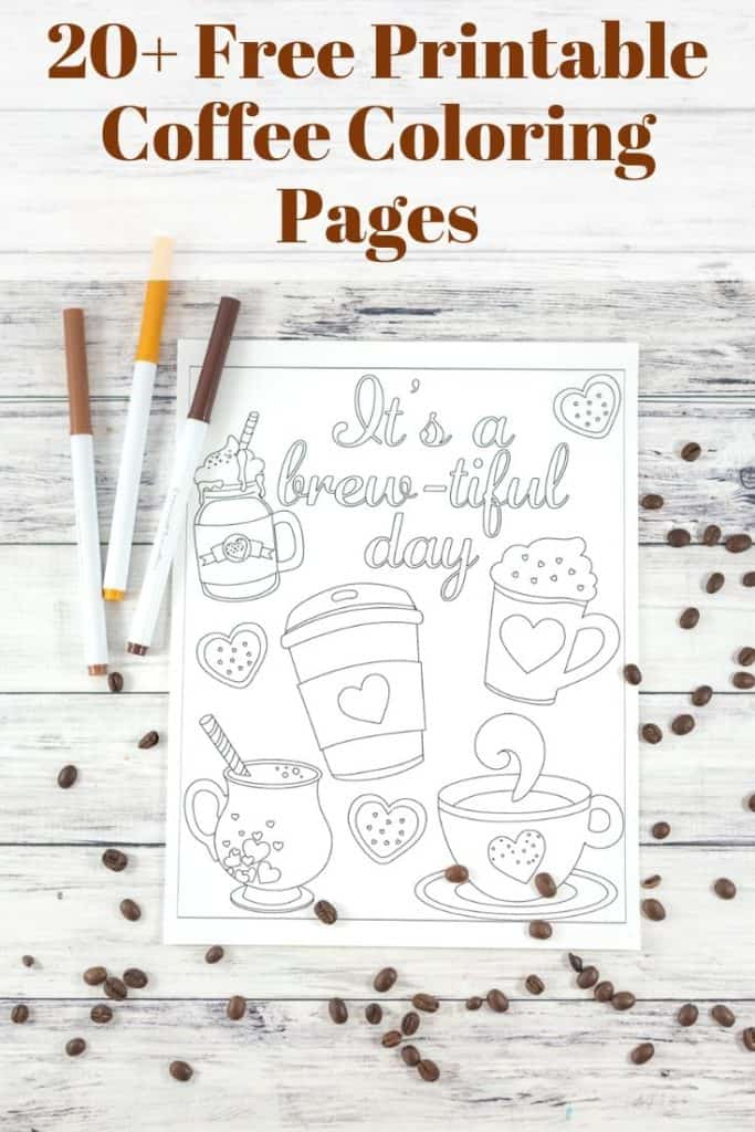 20+ Free Printable Coffee Coloring Pages
