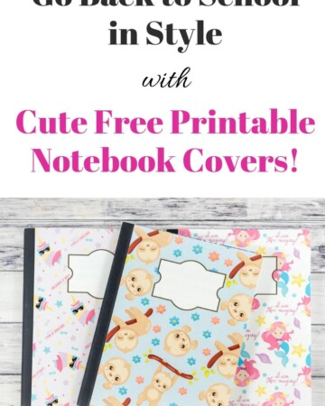 Go back to school in style with these cute free printable notebook covers!