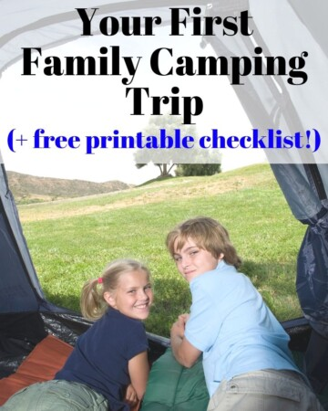 How to plan your first family camping trip