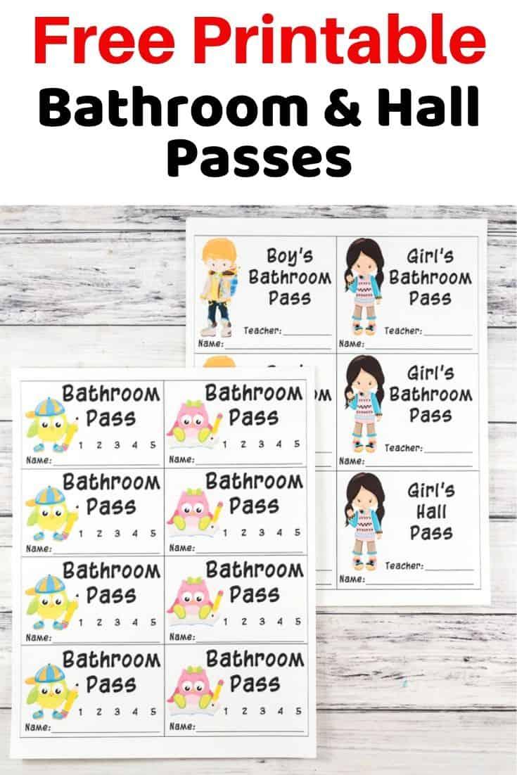 free printable bathroom and hall passes