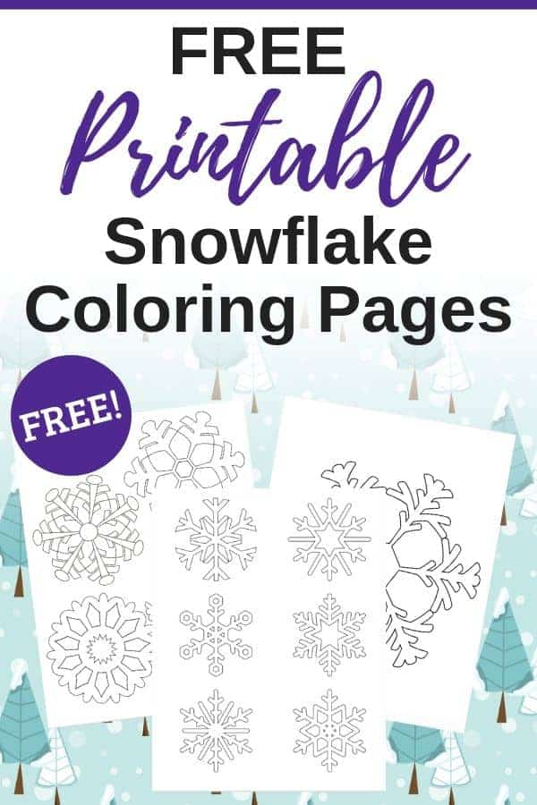 free printable snowflake coloring pages