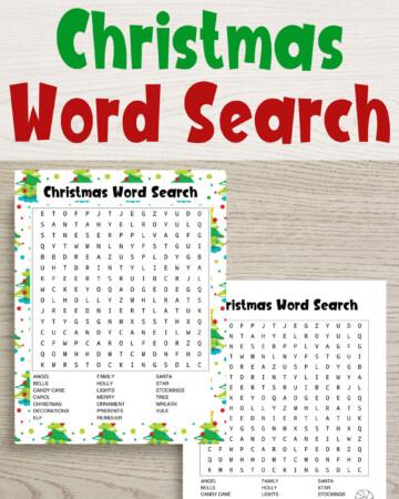 Free printable Christmas word searches