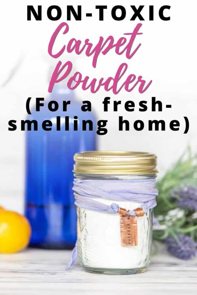 homemade carpet powder for a fresh-smelling home