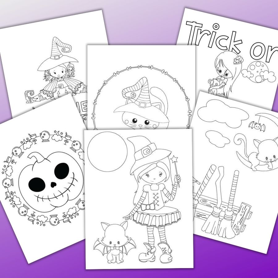 25 Free Printable Halloween Coloring Pages The Artisan Life