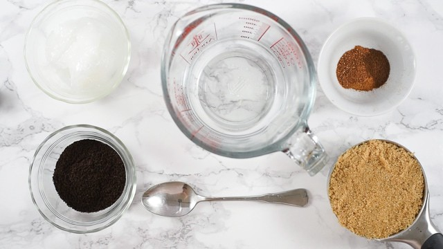 ingredients for pumpkin pie spice sugar scrub