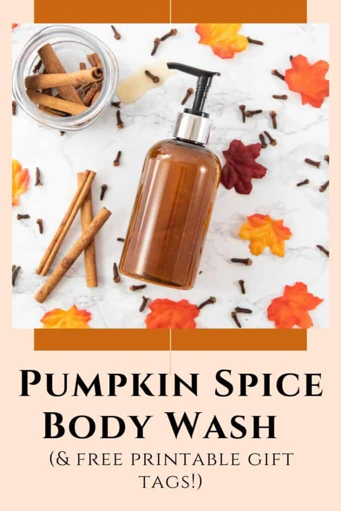 pumpkin spice body wash recipe