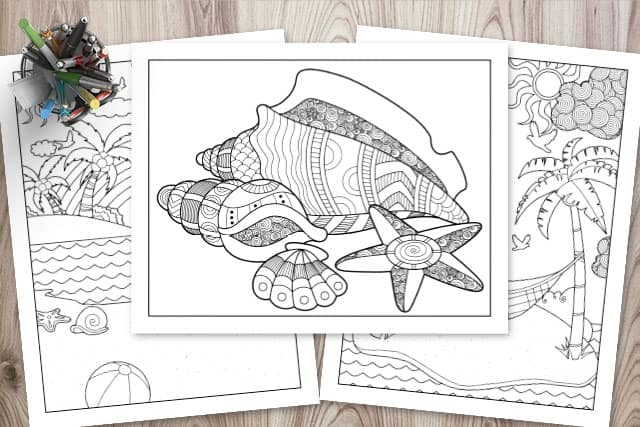 Free Printable Beach Coloring Pages The Artisan Life