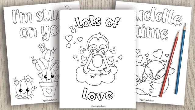 15 Valentine S Day Coloring Pages For Kids The Artisan Life