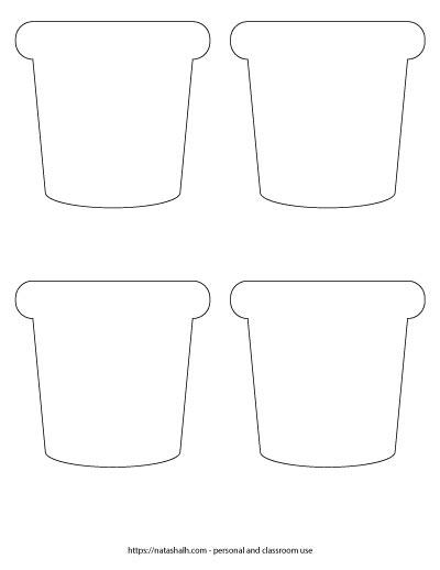 printable flower pot shapes