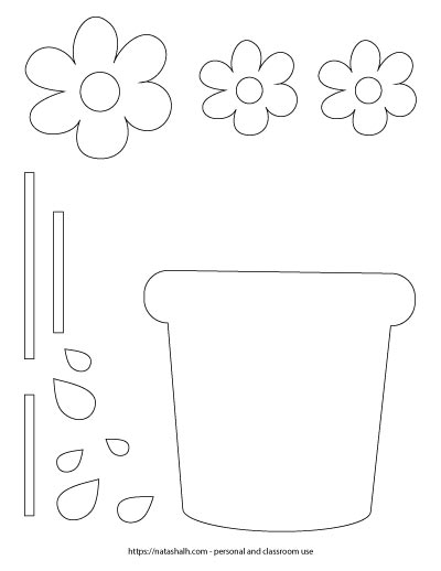 mother's day flower pot template - printable Mother's Day craft