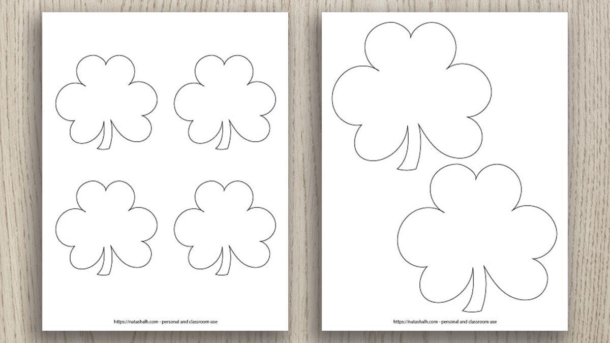 Free Printable Shamrock Templates Includes Green Shamrocks The Artisan Life