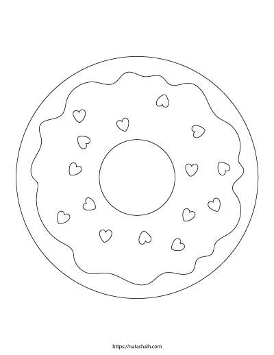 9 Free Printable Donut Coloring Pages The Artisan Life