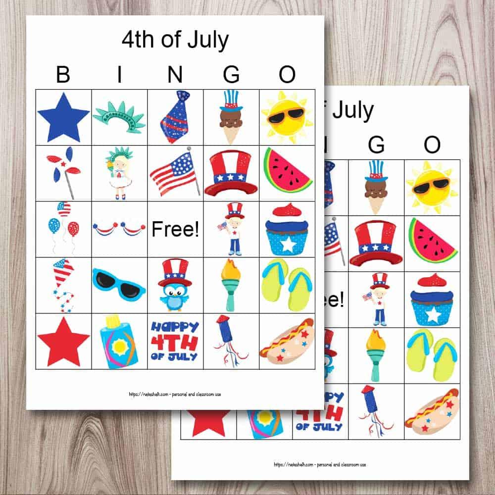 Free Printable Fourth Of July Bingo The Artisan Life